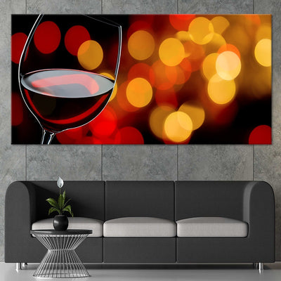 Aromatic Red Wine Glass Multi Panel Canvas Wall Art