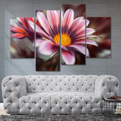 Artistic Painted Flower Canvas Wall Art