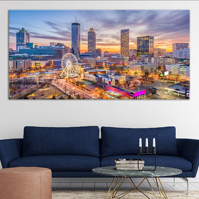 skyline of atlanta canvas wall art large