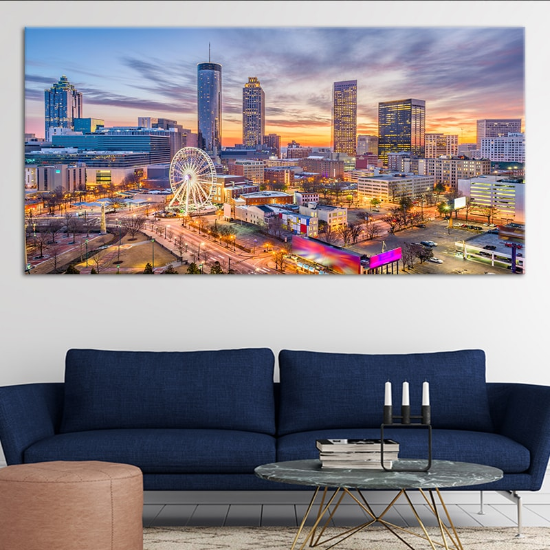 Atlanta Skyline 5 piece wall art