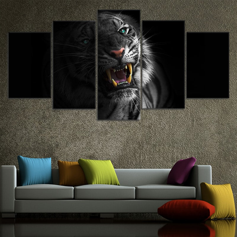 Bengal Tiger Pop Canvas Wall Art