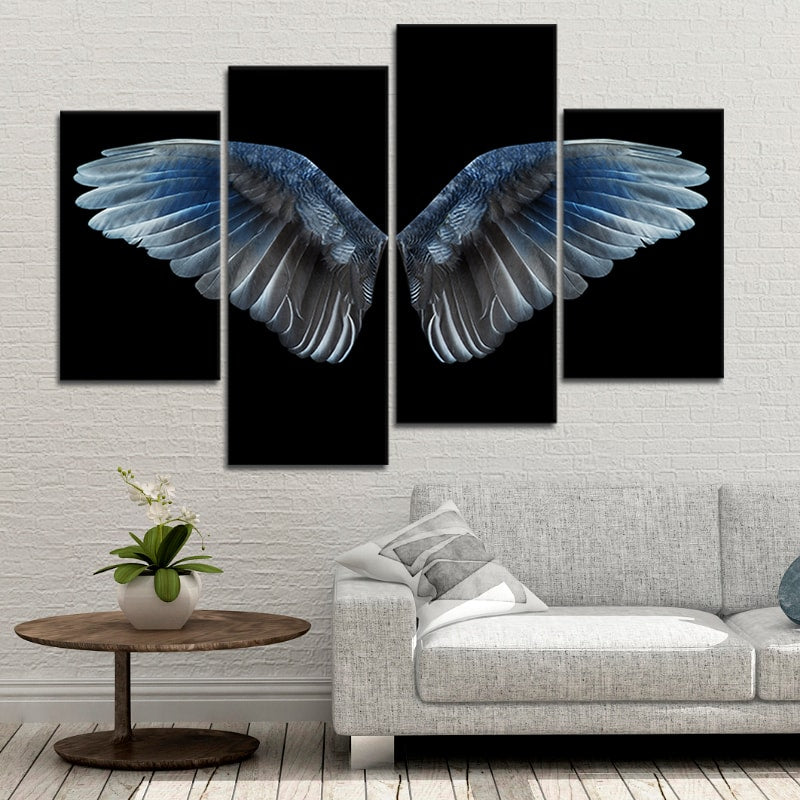 Fallen Angel Wings Multi Panel Canvas Wall Art