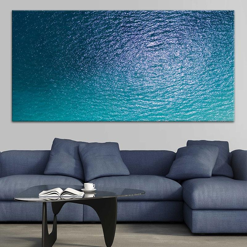 Blue Calm Ocean Surface Canvas Wall Art