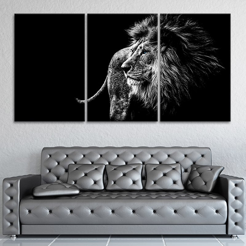 Blue Eyed Lion Canvas Set Wall Art L By Stunning Canvas Prints