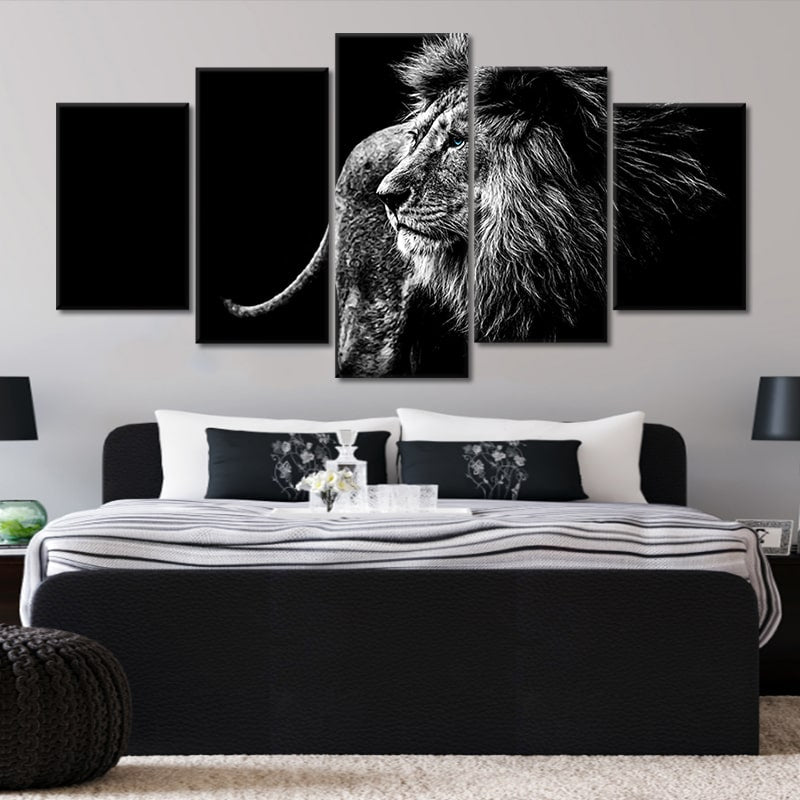 3 piece lion canvas