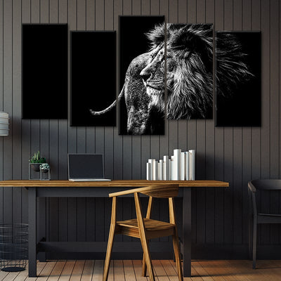 5 piece lion canvas