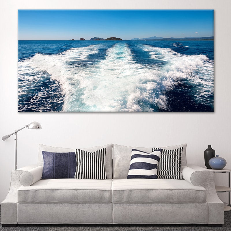 Boat Wake canvas wall art