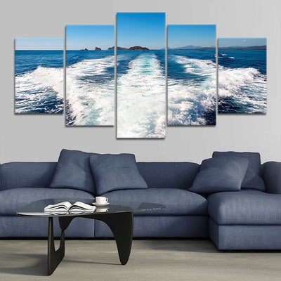 Boat Wake canvas wall art sets