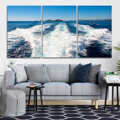 Boat Wake canvas prints cheap