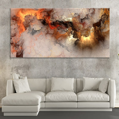 Abstract Clouds canvas wall art large