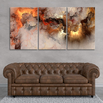 Abstract Clouds 3 piece wall art