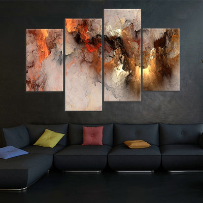 Abstract Clouds wall art set of 4