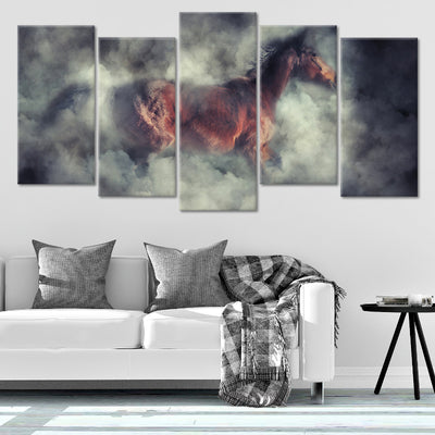 Brown Horse Multi Panel Canvas Wall Art