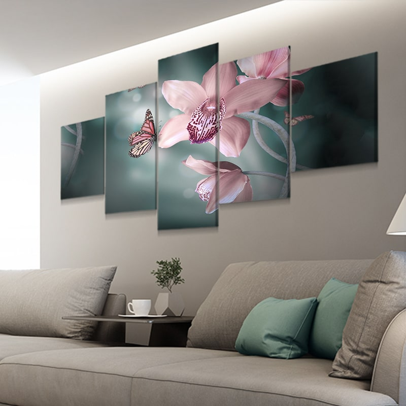 Butterfly Orchid Multi Panel Canvas Set