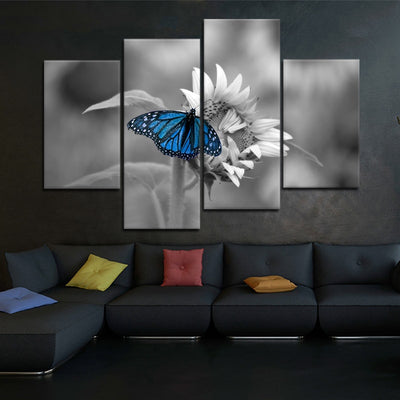 Butterfly On Sunflower large wall art