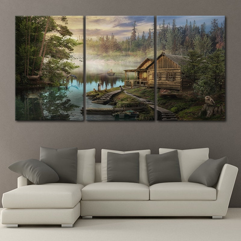 Cabin on the Lake large wall art