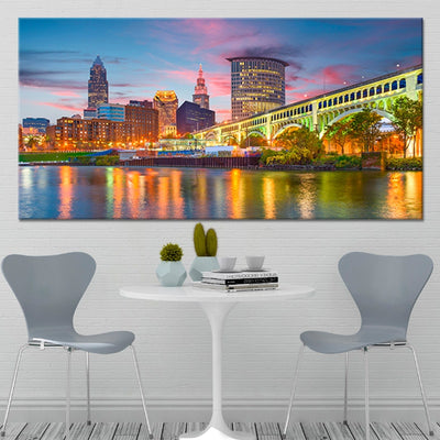 Cleveland Skyline canvas wall art large