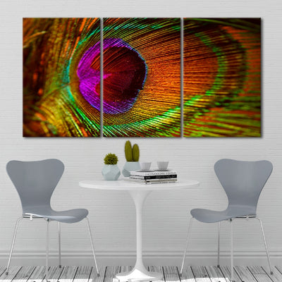Colorful Feather Multi Panel Canvas Print