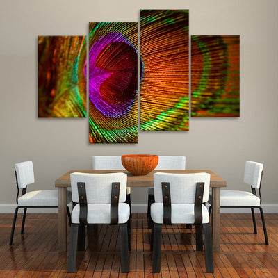 Colorful Feather Multi Panel Canvas Wall Art