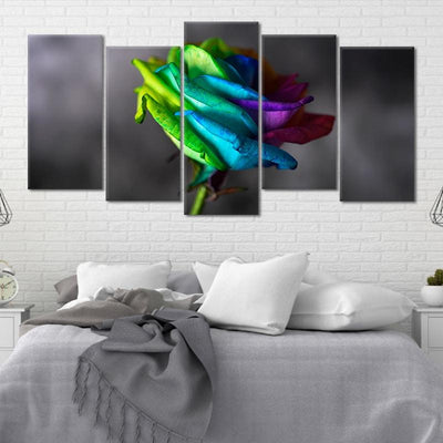 Colorful Rose Pop Canvas Wall Art