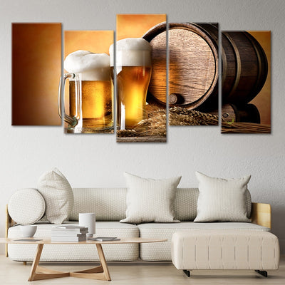 craft beer and brewing 5 piece wall art
