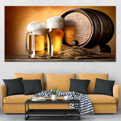craft beer and brewing canvas wall art large