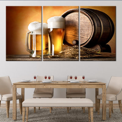 craft beer and brewing 3 piece wall art