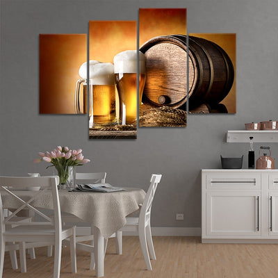 craft beer and brewing wall art set of 4