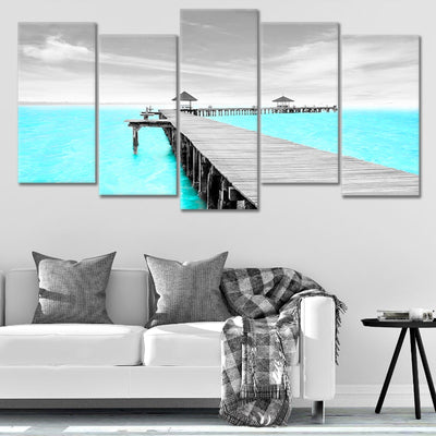 Crystal Clear Pier Pop Canvas Wall Art