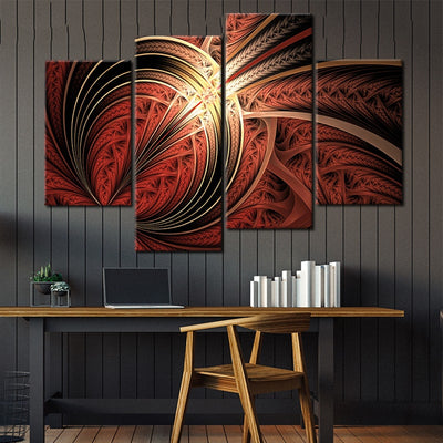 Curly Fractal Canvas Wall Art