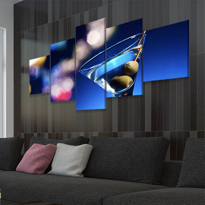 Dirty Martini Multi Panel Canvas Wall Art