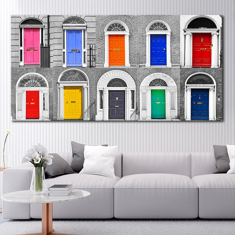 Dublin Doors Multi Panel Canvas Wall Art