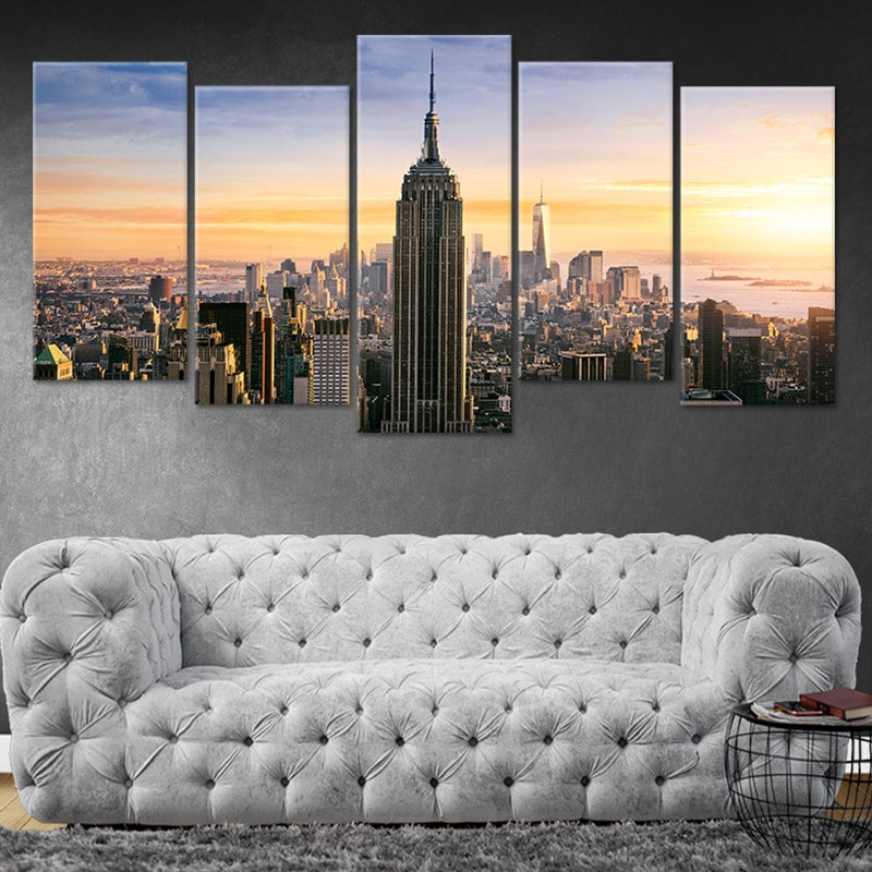 Empire State Building 5 piece canvas art