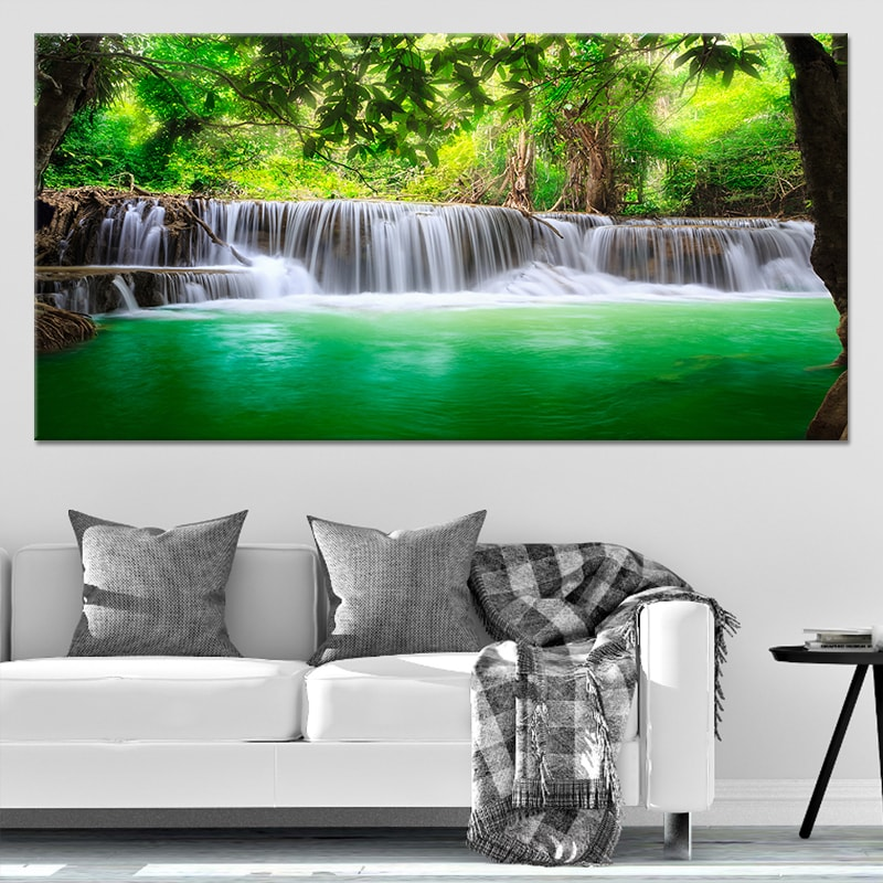 Erawan Waterfall Canvas Wall Art