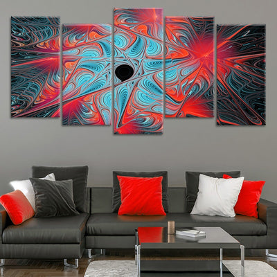 Abstract Expression Multi Panel Canvas Wall Art