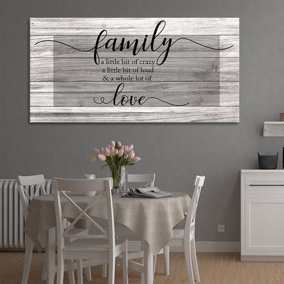 Family A Little Bit Of Crazy canvas wall art large