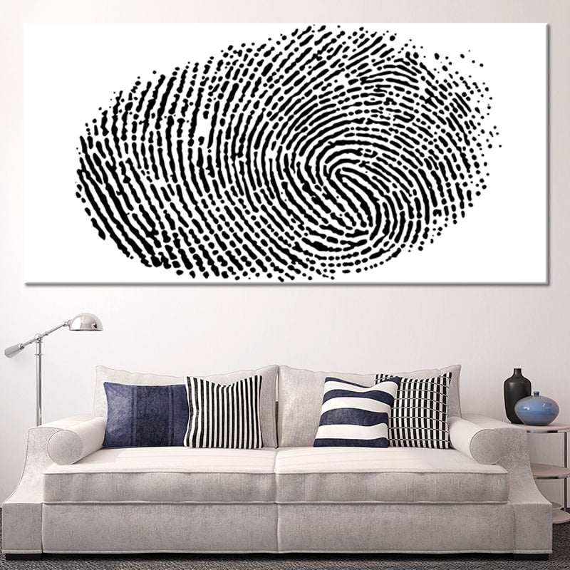 Fingerprint Multi Panel Canvas Wall Art