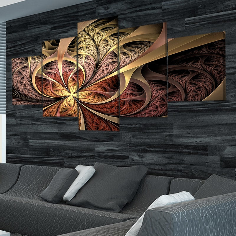 Fractal Autumn Curls Canvas Wall Art