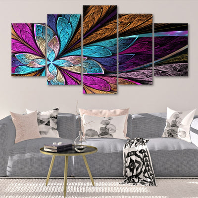 Fractal Flower Multi Panel Canvas Wall Art