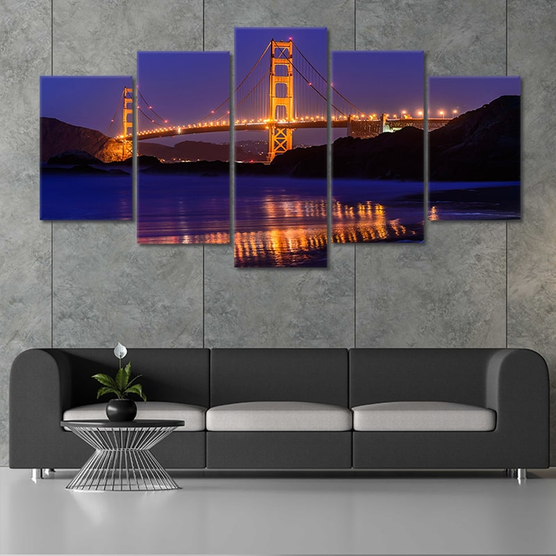 San Francisco Golden Gate Bridge wall art set of 4
