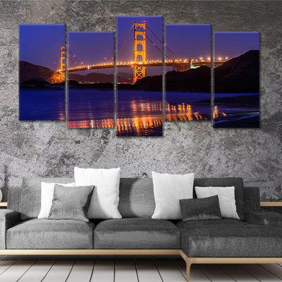 San Francisco Golden Gate Bridge 5 piece wall art
