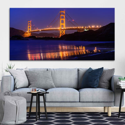 San Francisco Golden Gate Bridge canvas wall art large
