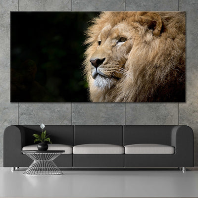 Wild Lion canvas wall art large