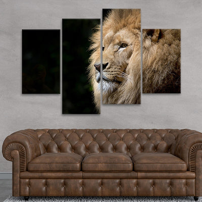 Wild Lion wall art set of 4