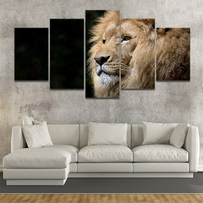 Wild Lion 5 piece canvas art