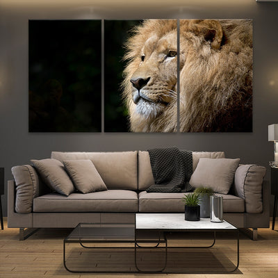 Wild Lion 3 piece wall art