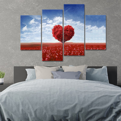 maple tree with red leaves wall art set of 4