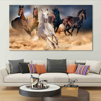 Horses Galloping 1 piece Canvas Set