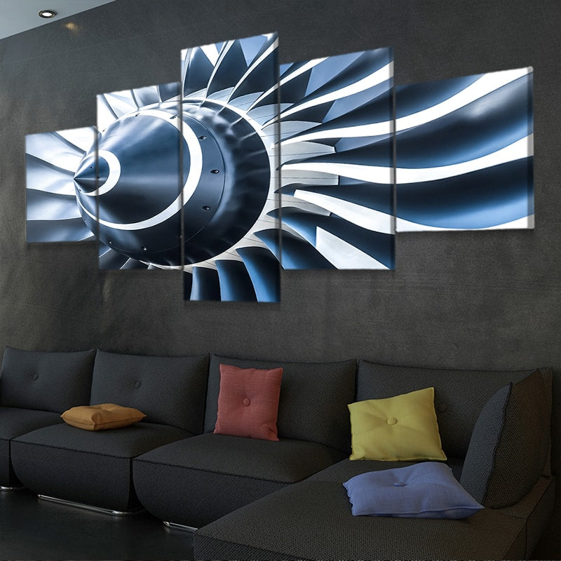 Jet Engine Blades Multi Panel Canvas Wall Art