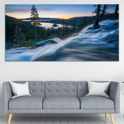 Lake Tahoe Waterfall Canvas Wall Art